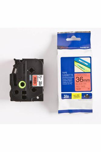 Brother TZe-461 Kırmızı üzerine Siyah Laminasyonlu Etiket 36mm x 8mm