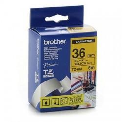 BROTHER - BROTHER TZE-661 SARI SİYAH ETİKET ŞERİDİ 36mm