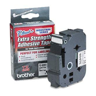 BROTHER - BROTHER TZE-S251 (24MM) BEYAZ LAMİNE ETİKET