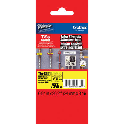 BROTHER - BROTHER TZE-S651 (24MM) SİYAH LAMİNE ETİKET