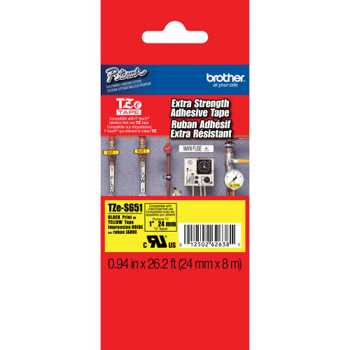 BROTHER TZE-S651 (24MM) SİYAH LAMİNE ETİKET