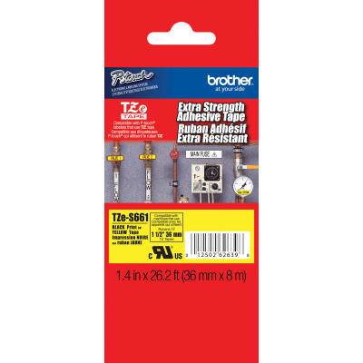 BROTHER - BROTHER TZE-S661 (12MM) SİYAH LAMİNE ETİKET