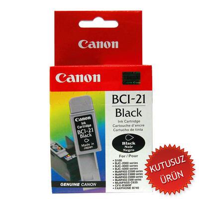 CANON - Canon BCI-21BK Siyah Orjinal Mürekkep Kartuş - BJC-2000 / BJC-2100 (U)