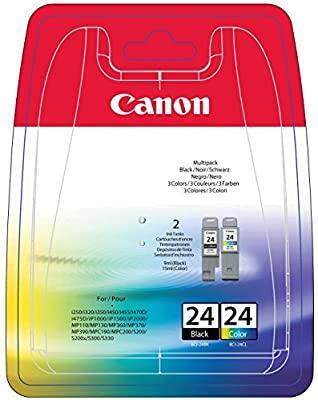 CANON - Canon BCI-24 Renkli-Siyah İkili Paket Orjinal Kartuş - i250 / i320