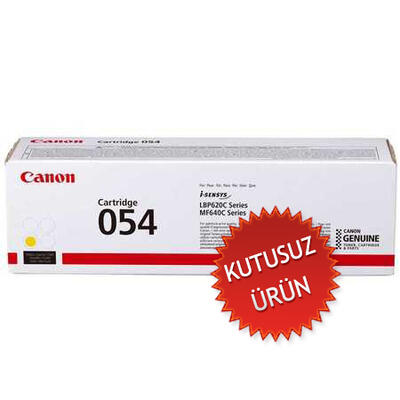 CANON - Canon CRG-054 Y Sarı Orjinal Toner LBP621, LBP623, MF-640, MF-641, MF-643, MF-644 (3021C002) (U)