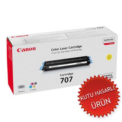 CANON - Canon CRG-707Y Sarı Orjinal Toner (C)