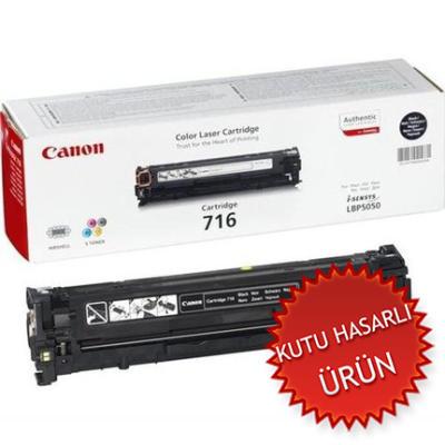 CANON - CANON CRG-716BK SİYAH KUTU HASARLI ORJİNAL TONER-LBP5050 / MF8030Cn / MF8050Cn