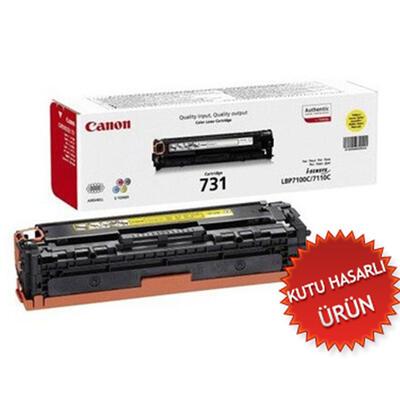 CANON - Canon CRG-731Y Sarı Orjinal Toner - LBP7100 / LBP7110 / MF8280 (C)