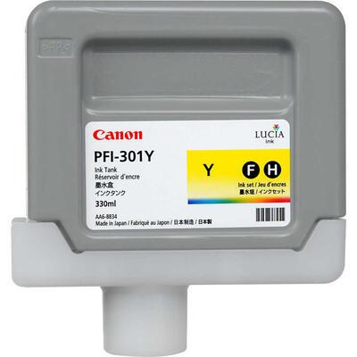 CANON - Canon PFI-301Y Sarı Orjinal Kartuş 330 ml. iPF8000, iPF8100, iPF9000