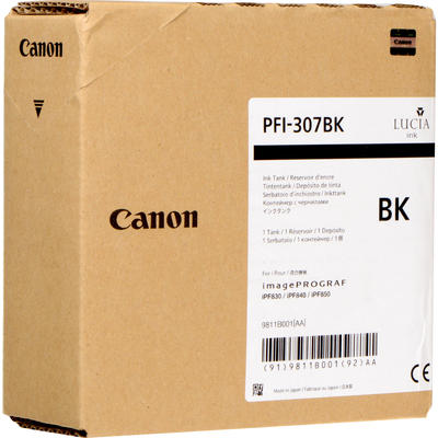 CANON - Canon PFI-307BK Siyah Orjinal Kartuş 9811B001 iPF830 / iPF840 / iPF850