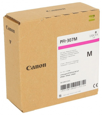 CANON - Canon PFI-307M Kırmızı Orjinal Kartuş 9813B001 iPF830 / iPF840 / iPF850