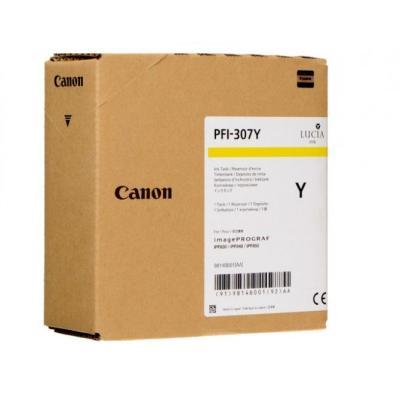 CANON - Canon PFI-307Y Sarı Orjinal Kartuş 9814B001 iPF830 / iPF840 / iPF850