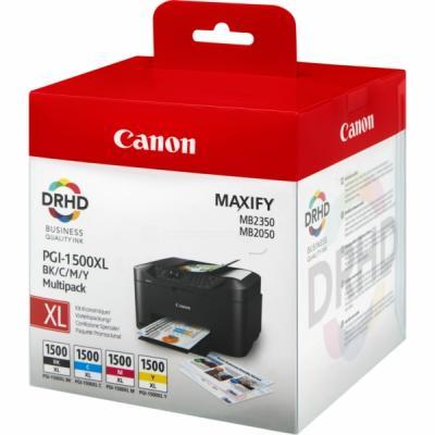 CANON - Canon PGI-1500XL BK/CMY Multipack 4lü Set Kartuş 9182B004[AA] MAXIFY MB2050 / MB2350