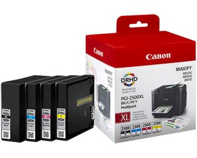 CANON - Canon PGI-2500 BK/CMY Multipack 4lü Set Kartuş 9254B004[AA] MAXIFY MB5455, MB5150, MB5050, iB4050