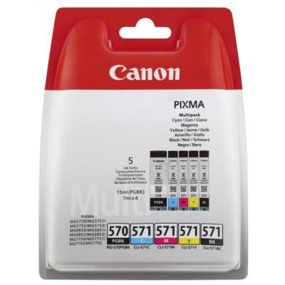 CANON - Canon PGI-570/CLI-571 PGBK / CMYBK MultiPack Orjinal Kartuş (0372C004)