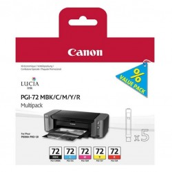CANON - CANON PGI-72 MBK/C/M/Y/R Multipack ORJİNAL KARTUŞ Pixma Pro-10