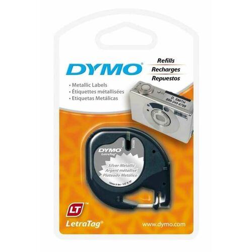 Dymo 91208 Metalik Silver Orjinal Şerit 12mm x 4m