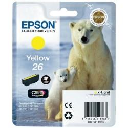 EPSON - Epson 26 T261440 Sarı Orjinal Kartuş - XP-600 / XP-700