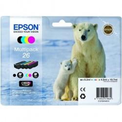 EPSON - Epson 26 T261640 Multipack 4'lü Set Kartuş - XP-600 / XP-700