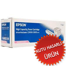 EPSON - EPSON 2600 / C2600N C13S050227 KIRMIZI ORJİNAL TONER- YÜKSEK KAPASİTE(B)
