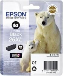 EPSON - Epson 26XL T263140 Foto Siyah Orjinal Kartuş - XP-600 / XP-700
