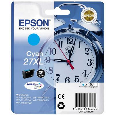 EPSON - Epson 27XL T2712 Mavi Orjinal Kartuş - WF-3620 / WF-7110