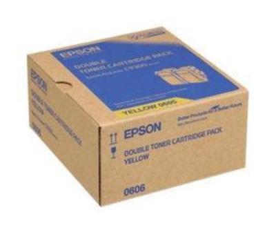 EPSON - Epson C9300 S050606 Sarı Orjinal Toner İkili Paket