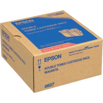EPSON - Epson C9300 S050607 Kırmızı Orjinal Toner İkili Paket