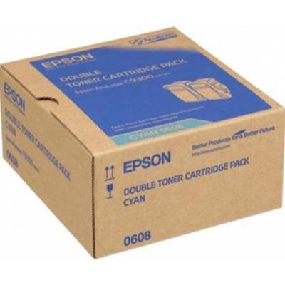 EPSON - Epson C9300 S050608 Mavi Orjinal Toner İkili Paket