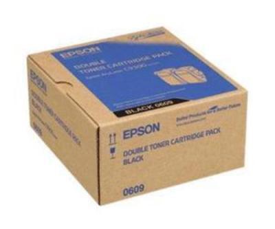 EPSON - Epson C9300 S050609 Siyah Orjinal Toner İkili Paket