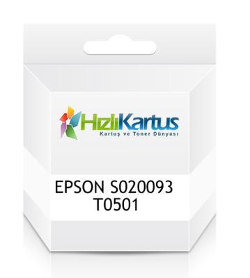 EPSON - Epson S020093 T0501 Siyah Muadil Kartuş