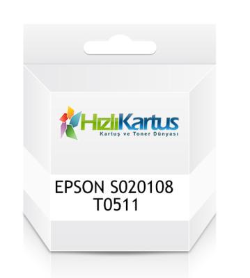 EPSON - Epson S020108 (T0511) Siyah Muadil Kartuş - Stylus 1160/1500/1520/800/850