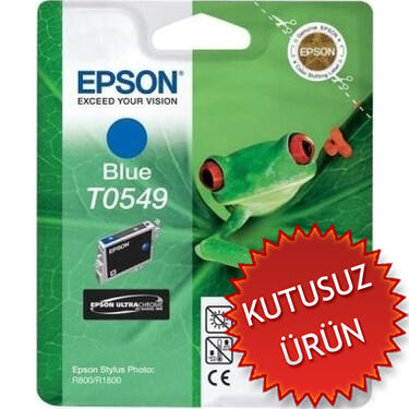 EPSON - Epson T0549 C13T05494020 Mavi Orjinal Kartuş (U)