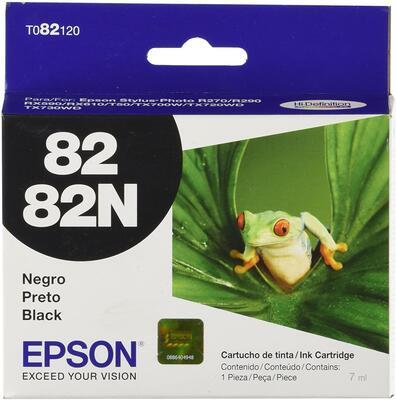 EPSON - Epson T082120 Siyah Orjinal Kartuş - Stylus Photo R290 / Stylus Photo RX590