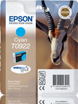 EPSON - EPSON T0922 MAVİ ORJİNAL KARTUŞ C91 / CX4300 / CX5900 / CX6900 / TX106 / TX117 / TX119
