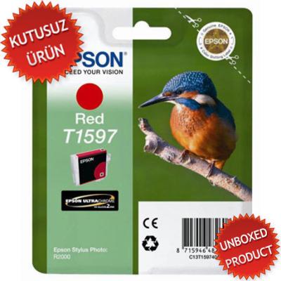 EPSON - EPSON T1597 KIRMIZI ORJİNAL KARTUŞ-R2000(Kutusuz Ürün)
