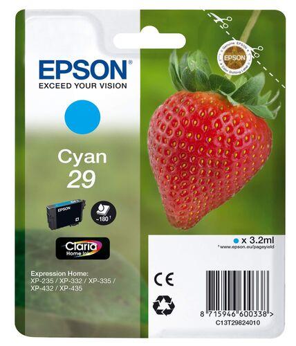 Epson T2982 C13T29824022 Mavi Orjinal Kartuş - XP-235 / XP-435