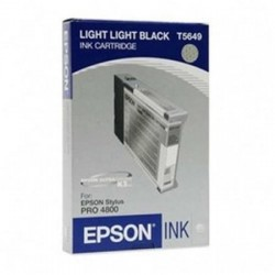 EPSON - EPSON T5649 C13T564900 ULTRA AÇIK SİYAH ORJİNAL KARTUŞ - Stylus Pro 4800