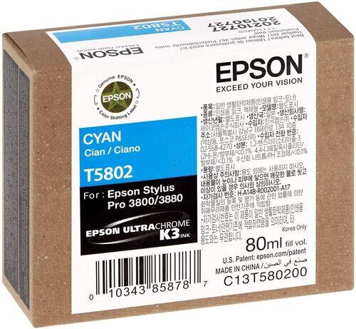 Epson T5802 (C13T580200) Mavi Orjinal Kartuş - PRO 3800