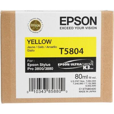 EPSON - Epson T5804 (C13T580400) Sarı Orjinal Kartuş - PRO 3800