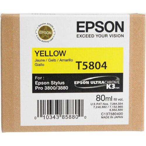Epson T5804 (C13T580400) Sarı Orjinal Kartuş - PRO 3800
