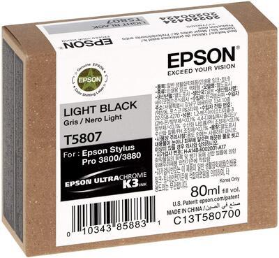 EPSON - Epson T5807 (C13T580700) Açık Siyah Orjinal Kartuş - PRO 3800