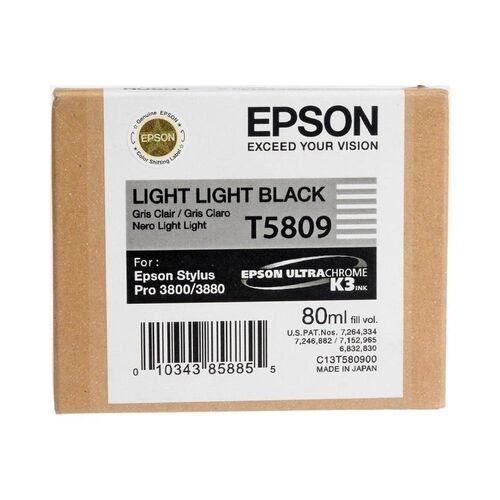 Epson T5809 (C13T580900) Duble Açık Siyah Orjinal Kartuş - PRO 3800