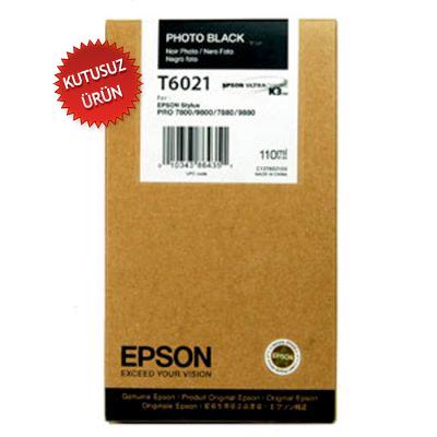 EPSON - Epson T6021 Pro 7800/7880/9800/9880 Foto Siyah Orjinal Kartuş (U)