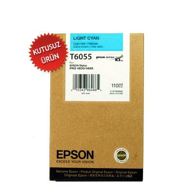 EPSON - EPSON T6055 (T605500) Açık Mavi ORJİNAL KARTUŞ - PRO 4800 / 4880 (U)
