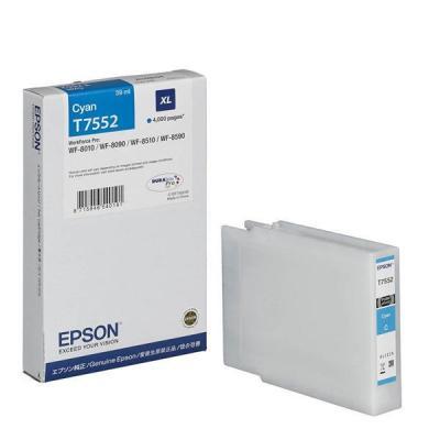 EPSON - Epson T7552 (C13T755240) XL Orjinal Mavi Kartuş WF-8010DW, WF-8090, WF-8590