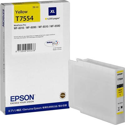 EPSON - Epson T7554 (C13T755440) XL Orjinal Sarı Kartuş WF-8010DW, WF-8090, WF-8590