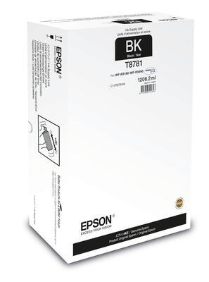 EPSON - Epson T8781 Siyah Orjinal Kartuş - WF-R5690DTWF / WF-R5190DTW