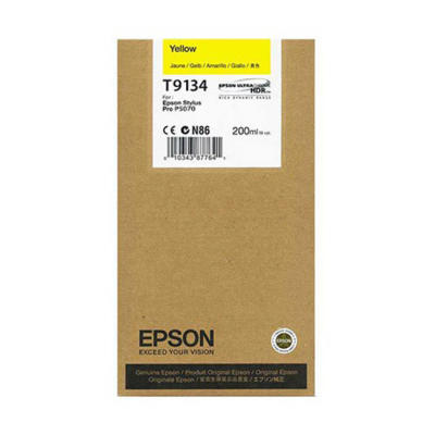 EPSON - EPSON T9134 SARI ORJİNAL KARTUŞ Surecolor SC-P5000 / SC-P7000