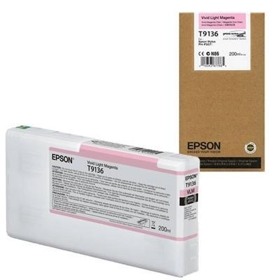 EPSON - EPSON T9136 AÇIK KIRMIZI (Vivid Light Magenta) ORJİNAL KARTUŞ Surecolor SC-P5000 / SC-P7000